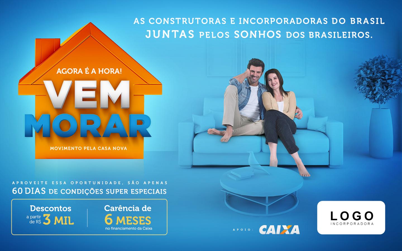 'Vem Morar' dará desconto na venda de imóveis novos em todo o Brasil